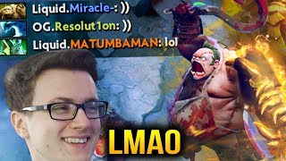 Miracle- PUDGE GOD LIQUID VS OG - Funny Pro Game Dota 2 7.07c