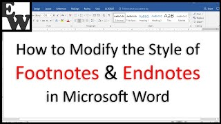 How to Modify the Style of Footnotes and Endnotes in Microsoft Word