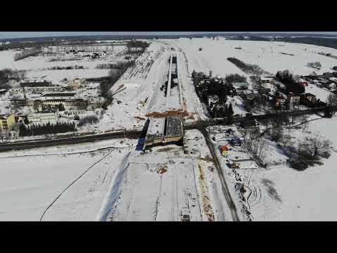 Planowana droga S19 odc. 3 obwodnica m. Kraśnik - widok lotniczy - luty 2021 r.