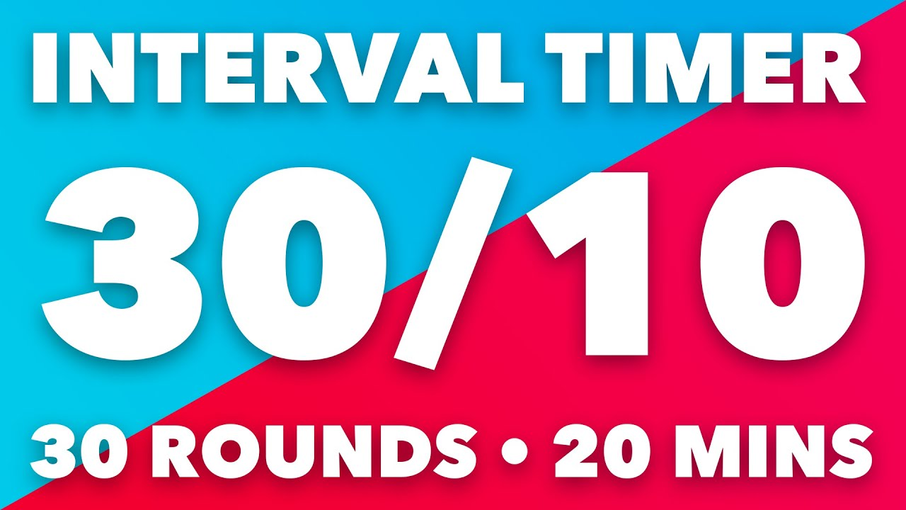 30 / 10 Seconds HIIT Interval Timer