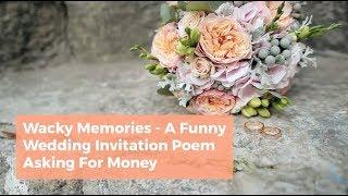 Funny Wedding Invitation Poem Asking for money - Wacky Memories