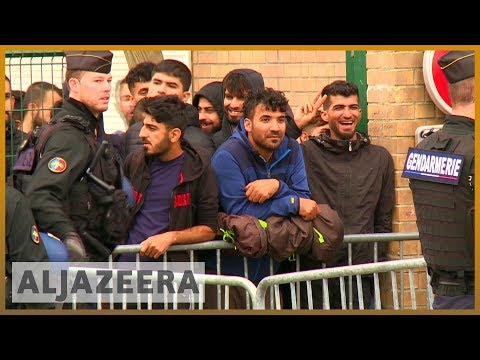 Desperate journeys: Police clear migrant camp in France