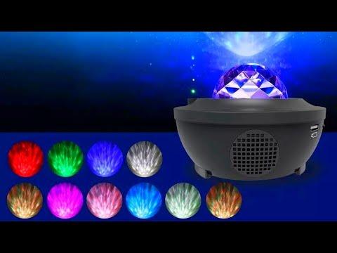 LED проектор звёздного неба с блютуз динамиком / LED starry sky projector with bluetooth speaker