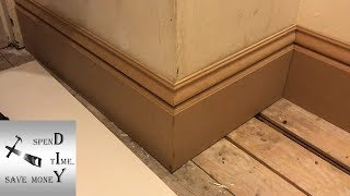 How to cut an external mitre / outside corner on skirting boards / baseboards.