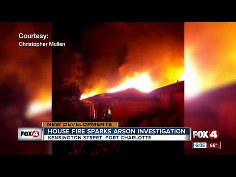 House Fire Sparks Arson Investigation