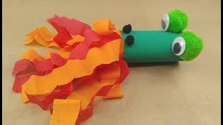 פעילות חינם מקופסת דרקונים - דרקון רושף אש