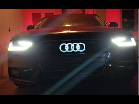 Part 1: Audi Grill Logo Lights up from Front, Rear light is TBA!