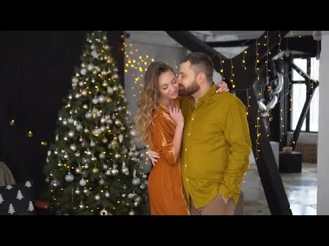 Couple Celebrating Chistmas Stock Video