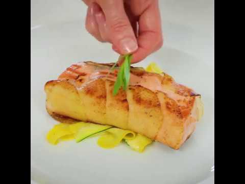 Fresh Salmon With Scalloped Potato