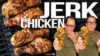 The Best Grilled Chicken Ive Ever Made - Jamaican Jerk Chicken | SAM THE COOKING GUY 4K