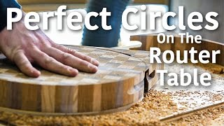 Router Table Circle Jig - Making A Round Cutting Board