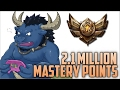 Bronze Alistar 2 100 000 MASTERY POINTS Spectate 2nd Highest Mastery Points on Alistar