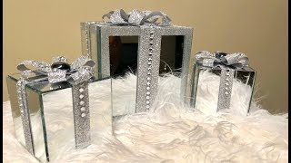 Dollar Tree DIY || Decorative Mirrored Gift Boxes