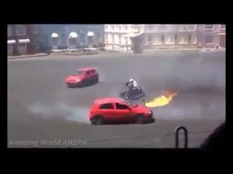 Download Best Stunt Show Ever with Bike, Cars and Trucks - Amazing people incredible stunts HD Mp4 3GP Video and MP3