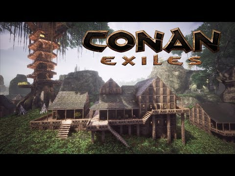 Conan exiles - house designs in the jungle treehouse city (speed build)