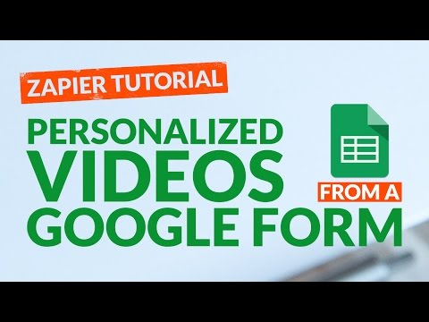 How To Create Personalized Videos From Google Forms
