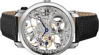 Akribos XXIV Men's Bravura Davinci Mechanical Stainless Steel Watch with Black Leather Band