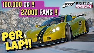 How to LEVEL UP *EVERY LAP* in Forza HORIZON 4!!