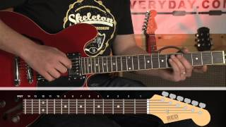 How to play - Jumpin' Jack Flash - verse - Rolling Stones - guitar lessons