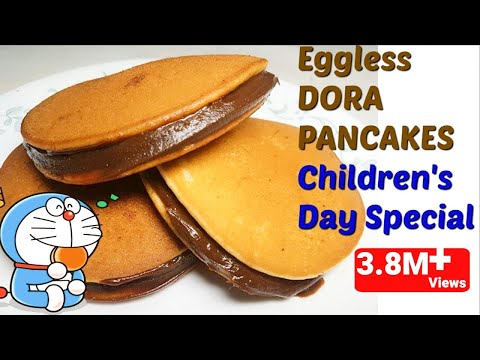 Eggless DORA PANCAKES Recipe in hindi/ How to make Dora Cakes/Pancakes