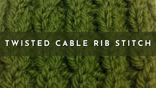 How to Knit The Twisted Cable Rib Stitch