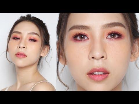 Pink & Orange Valentine's Day Makeup Look - Tina Yong
