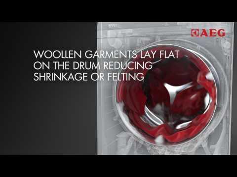 AEG Freestanding Washer Dryer L7WBG741R - White Video 2