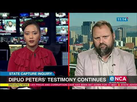 State Capture Inquiry Dipuo Peters' testimony continues