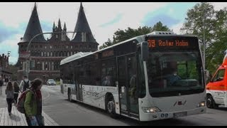 preview picture of video 'Buses, حافلة ,בוס, बस, ബസ്, 버스, バス (交通機関),  Lübeck 11 may 2013'