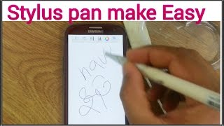 how to make a stylus pen with a cotton bar
