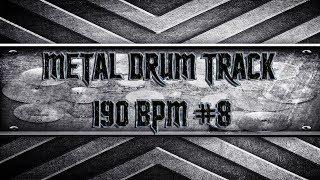 Fast Simple Straight Metal Drum Track 190 BPM (HQ,HD)