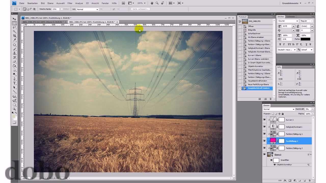 Vintage-Effekt – Photoshop-Tutorial