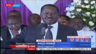 NASA leader Raila Odinga mourns his friend the late Interior CS Joseph Nkaissery's burial
