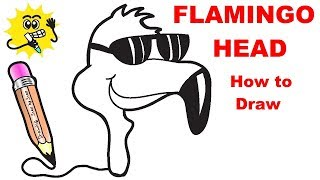 Drawing Flamingo Step Step Website To Share And Share The Best