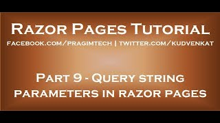 Query string parameters in asp net core razor pages
