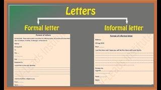 How to write letters | Formal letter | Informal letter