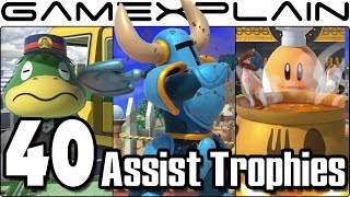 Super Smash Bros. Ultimate - All 40 New & Returning Assist Trophies We've Seen So Far (+Origins!)