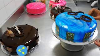3d Cake Making Vanilla And Chocolate Cake Whit Photo Cake 3d Cake Wala