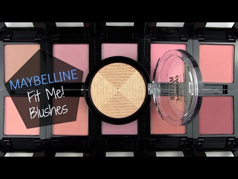 Maybelline Fit Me Blushes 2017: Live Swatches & Review