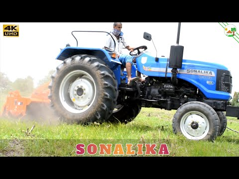 SONALIKA DI 47 RX with Rotavator | Superpower Tractor | Tractor Videos | Come to Village