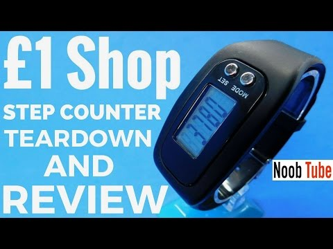 Teardown £1 Shop Step Counter Worth Buying You Decide Digital Pedometer Wrist Watch Miles & Calorie