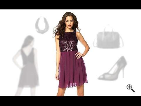 Rotes Chiffon Kleid in kurz mit Pailletten + 3PartyoutfitTippsfür Chilja
