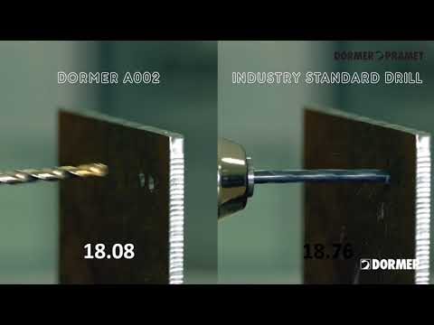 Dormer A002 v industry standard drill - which will be the quickest?