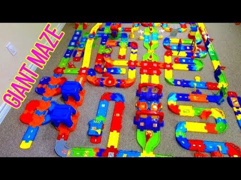 Smart Wheel City: Maze Challenge – Giant Vtech Go! Go! Smart Wheels Maze - Can you find the end?