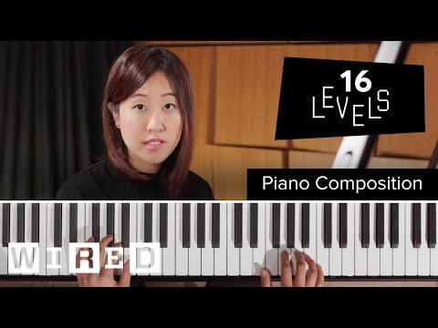 A Demonstration of 16 Levels of Piano Playing Complexity