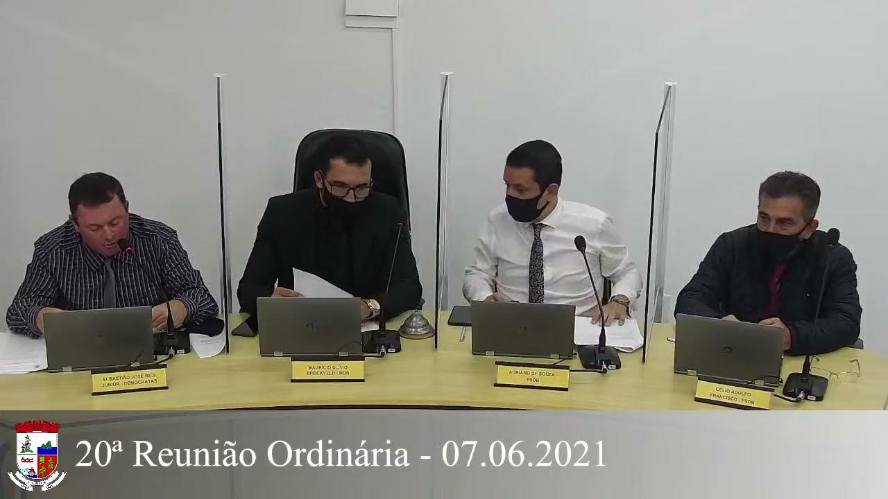 20ª Reunião Ordinária - 07/06/2021