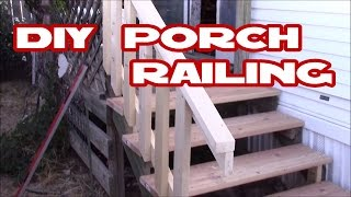How to make deck / porch railing easy with just 2x4's DIY Home Depot materials