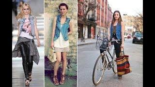 Denim Vest Outfit Ideas Inspiration
