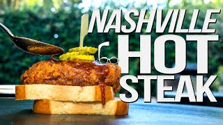 NASHVILLE HOT STEAK | SAM THE COOKING GUY 4K