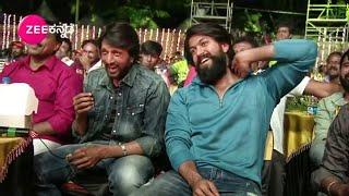 Kiccha Sudeep Laughing For Rocking Star yash Dialogue At KCC Karnataka Chalana Chitra Cup